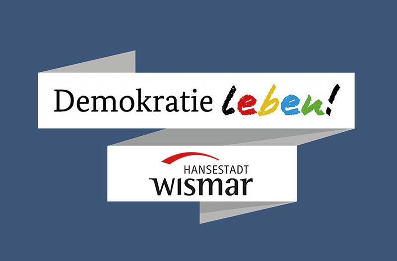 Demokratie leben Wismar Logo