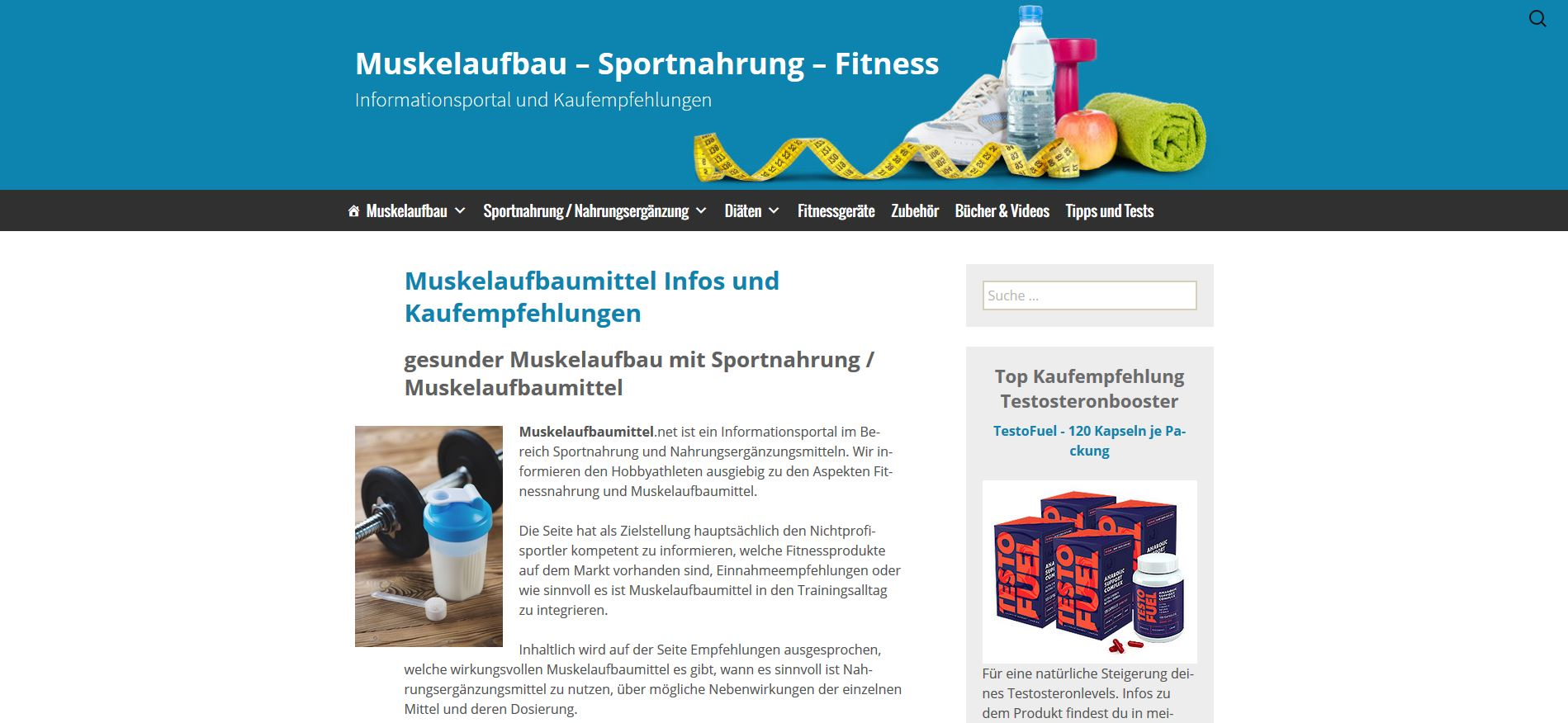 Muskelaufbaumittel Website